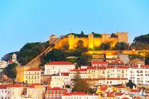 Lisbon Castle view, Portugal