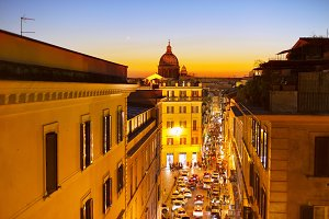 Old Town street of Rome