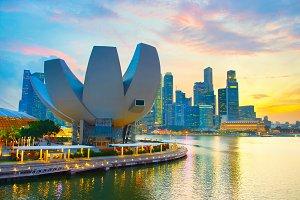 Singapore colorful cityscape