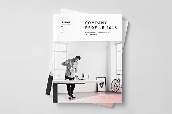 Fashion Company Profile Brochure Templates Creative Market – Company Profile