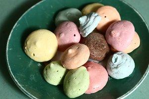 meringue kiss pastry macaron cookies