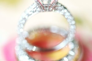 Sparkle wedding rings