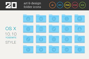 Art and Design Folder Icons Set 2