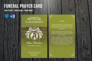Funeral Prayer Card Template-V660