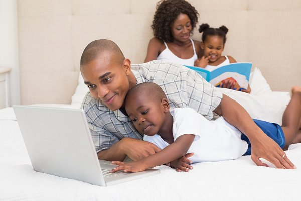 Happy family spending time together…