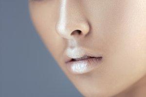 Futuristic young asian woman.