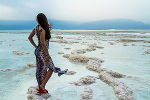 Girl at the Dead Sea