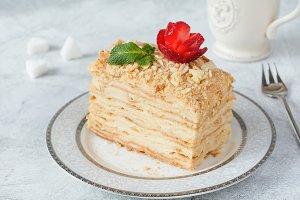 Piece of layered cake