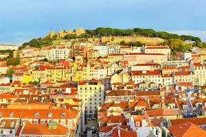 Lisbon Old Town panorama, Portugal