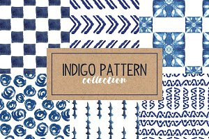 Indigo Hand Drawn Pattern