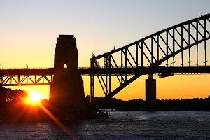 Sunset at Harbour bridge