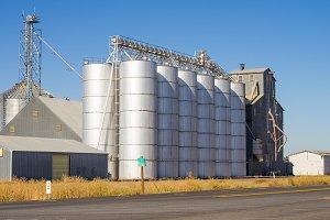 Metal grain silos