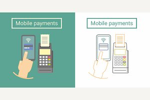 Mobile payment icon design