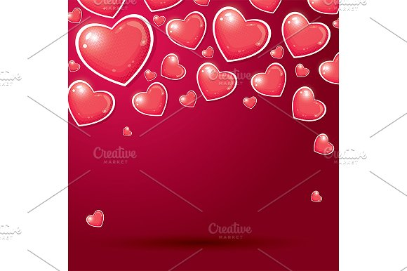 Red Hearts With Knitted Pattern