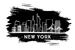 New York Skyline Silhouette