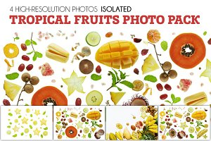 tropical fruits isolated pack