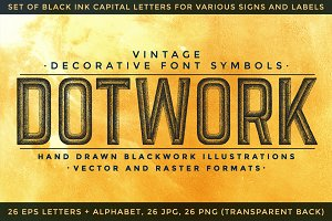 DOTWORK decorative font symbols