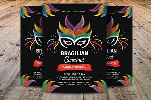 Brazilian Carnival Celebration Flyer