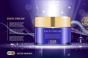 Vector Purple face cream container