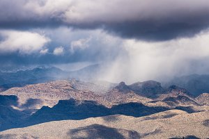 Snow and rain storm over Santa Catalina Mountains