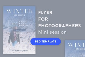 Winter Mini Session Template PSD