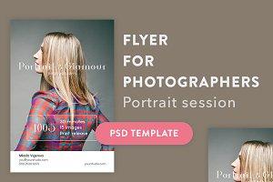 PSD Flyer Portrait & Glamour