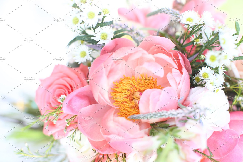 Peony flower background nature photos creative market izmirmasajfo Images