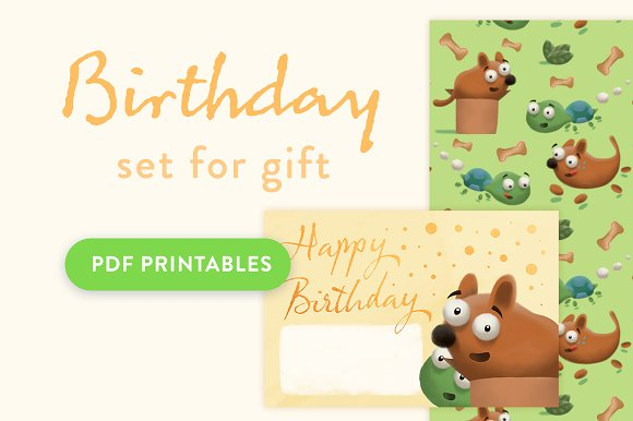 Happy Birthday Cards Papers Card Templates Creative Market