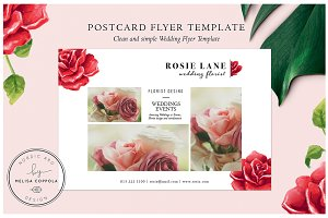 Red Roses Postcard Flyer Template