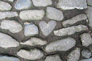 Heart stone walkway