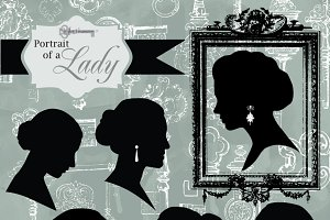 Portrait of a Lady, Digital Clipart