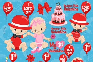 Valentine Baby Cliparts AMB-1580