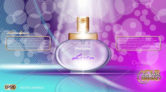 Blue And Purple Perfume Mockup