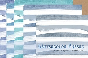 Blue Watercolour Papers