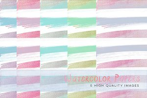 colorful watercolour stripes paper