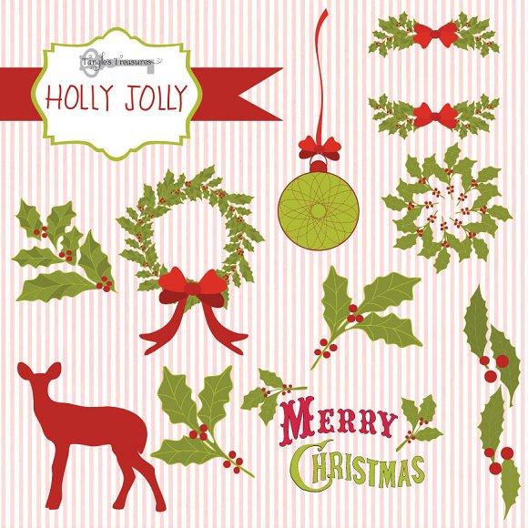 holly jolly christmas graphics graphics creative market