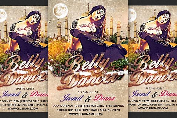 Belly Dancer Flyer Flyer Templates Creative Market