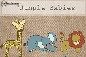 Jungle Animals Graphic Set