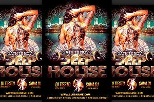 Deep House Party Flyer