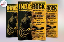 Indie Rock Style Flyer Template