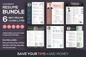 Clean Resume/CV Cover Letter Bundle