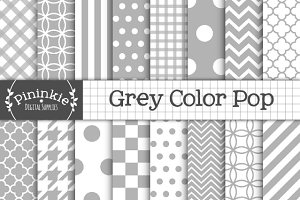 Grey Digital / Gray Scrapbook Paper