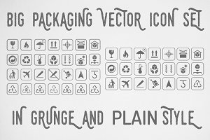 Big Packaging Vector Icon Set