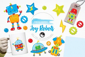 Toy robot illustration pack