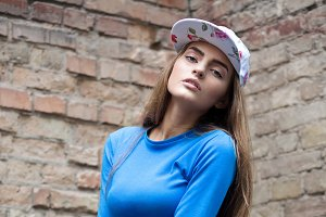 Portrait of stylish hipster girl
