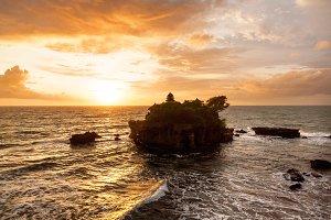 Sunset at Tanah Lot, Bali, Indonesia