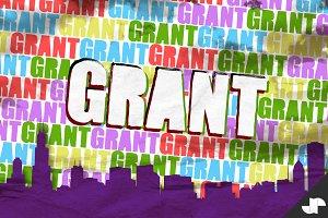 Grant - Grungy Stencil Font