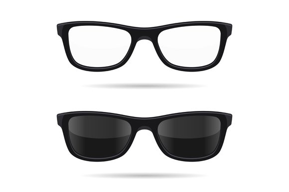 Hipster Glasses Set