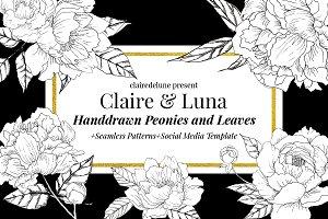 Claire & Luna - Handdrawn Peonies