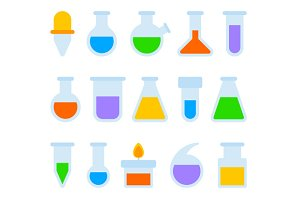 Chemical Laboratory Equipment Icons